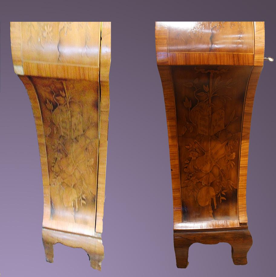 Nouveau vernis sur meuble ancien- Bruxelles