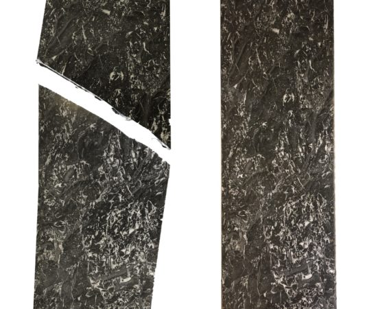 Restauration d'une tablette de commode en marbre