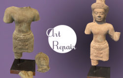 Réparation d'une sculpture en pierre